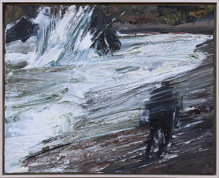 Bluff Beach study 2 (SOLD) by Euan Macleod, oil on polyester, 2017, 530 x 660mm