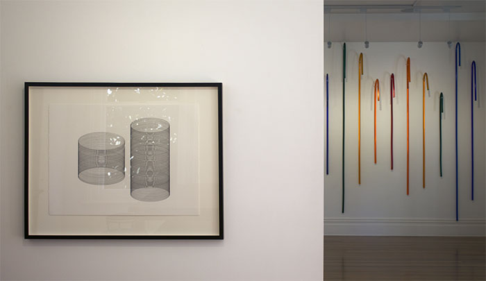 Installation of 'Glitches in Progress II' & 'Pivotal Moments #1-#12' by Donna-Marie Patterson
