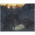Tent in Torchlight