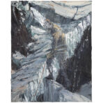 Figure with Rope Against Ice Fall (SOLD)