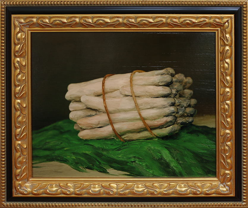 'Bunch of Asparagus (after Manet)', 2018, archival pigment print, 650x745mm