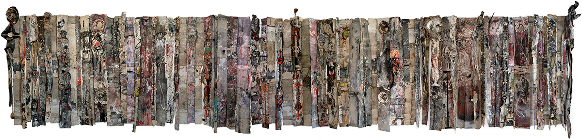 'A language older than words', 2020, 72 piece mixed media installation, 1900 x 9200mm, POA