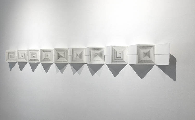 'Concertina Meander', Marian Maguire, 2019, graphite on paper, 100x1420mm