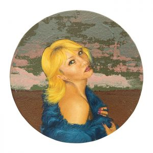 MUSE #29 by Roger Boyce, 2013/14, oil and acrylic polymer on panel, 200mm diameter, $1,750