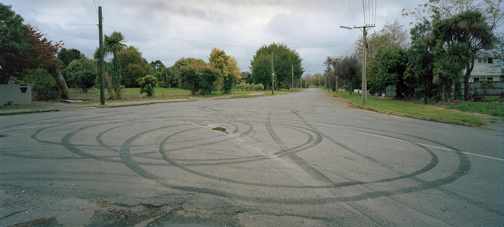 Corner of Keller and Morris Sts, Avonside Residential Red Zone, Christchurch, Photograph, 2015