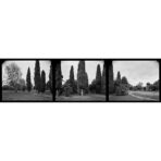 Sentinels, 180 degree panorama, 2018. Halley Place, Avonside, Christchurch
