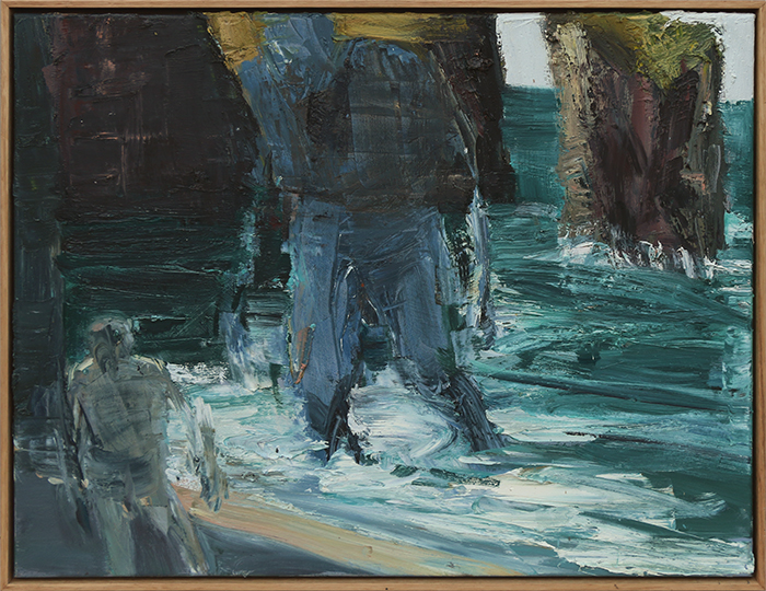 Tunnell Beach study (SOLD) by Euan Macleod, oil on polyester, 2017, 530 x 660mm