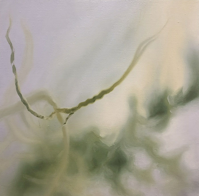 'Sanguinlight', Viv Kepes, (SOLD) 2017, 350mm x 350mm, oil on linen, $500
