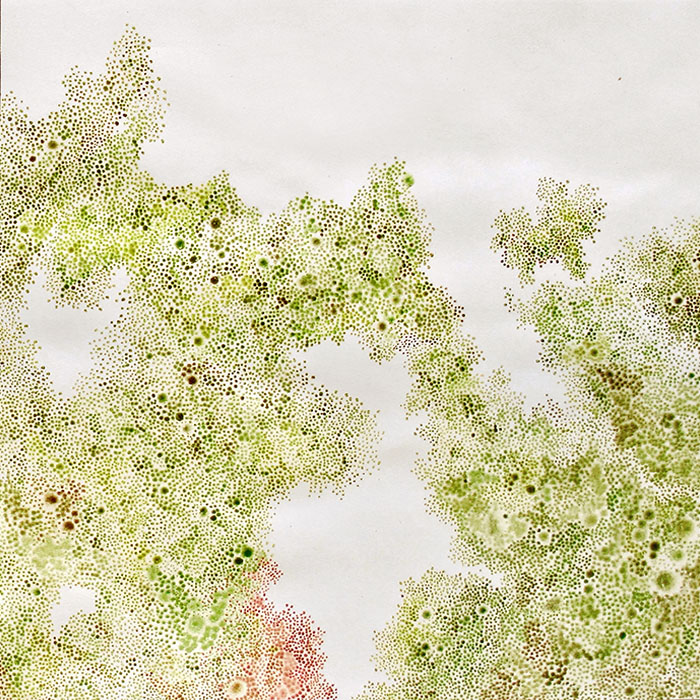 White Whisper Series - Going West, by Yukari Kaihori, acrylic primer and oil on paper, 610 x 610mm $2400