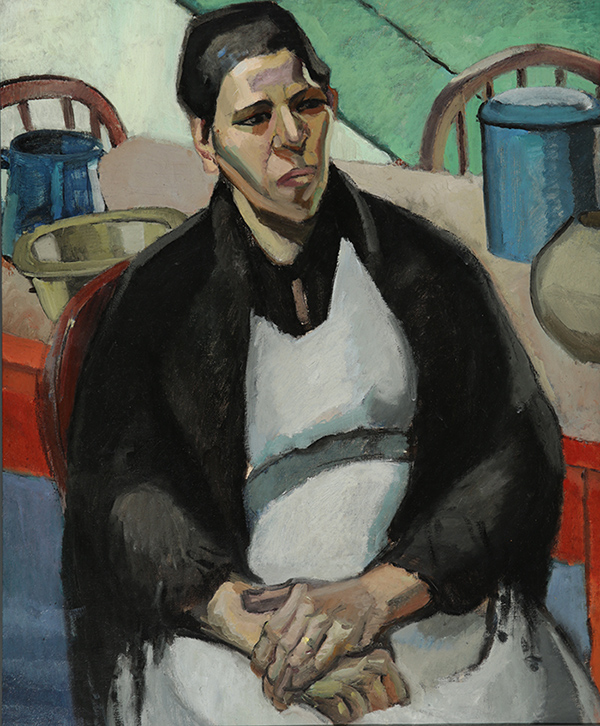 'A Cornish Woman of Spanish Descent' by Edith Collier, Circa 1916, oil on canvas